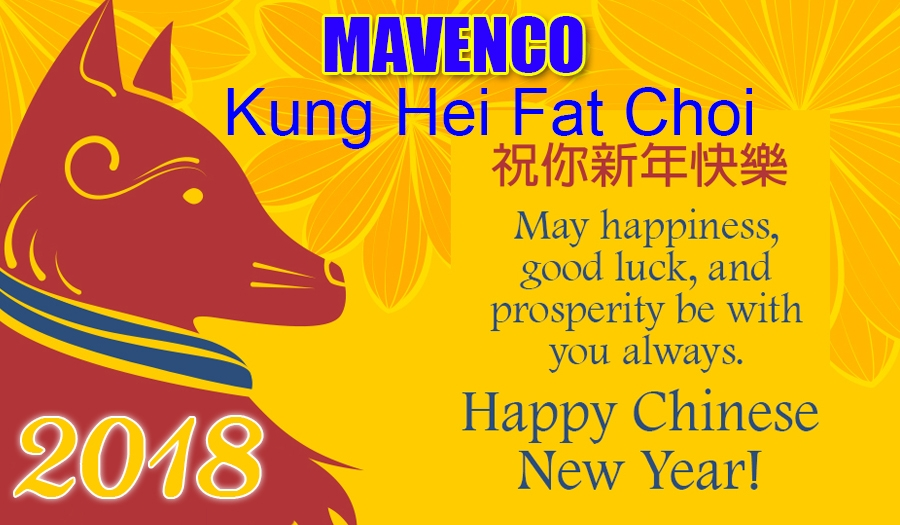 "Mavenco Welcome the Year of Earth Dog ""Happy Chinese New Year"""